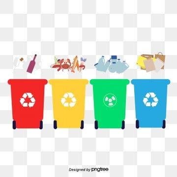 ถ งขยะ ขยะ การค ดแยกขยะ Trash Can Creative Advertising Web Template Design