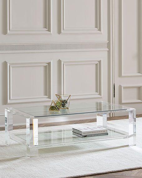 Interlude Home Landis Acrylic Coffee Table Acrylic Coffee Table Modern Glass Coffee Table Glass Table Living Room