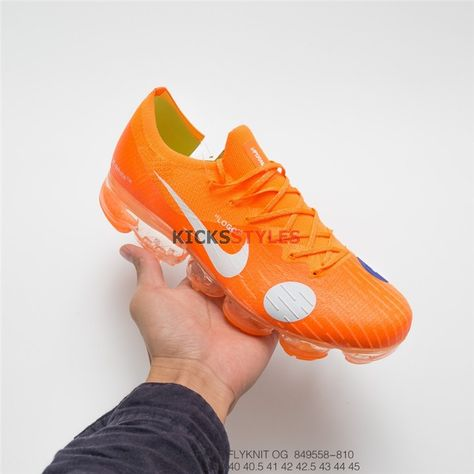 5874d2fdf3e79 Custom Off-White Nike Mercurial VaporMax Orange