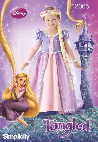 Simplicity Childrens Sewing Pattern 2065 Disney Tangled Rapunzel Dress Costume | Sewing | Patterns | Minerva Crafts
