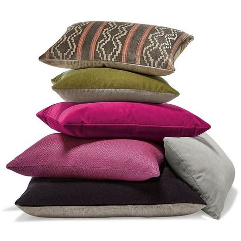 Fuchsia Pillow Ensemble Liked On Polyvore Featuring Home