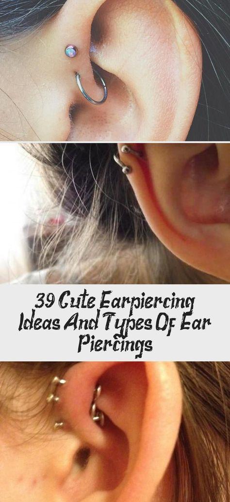 39 idées et types de piercings d'oreille mignons - PIERCINGS  #idees #mignons #oreille #piercings #types