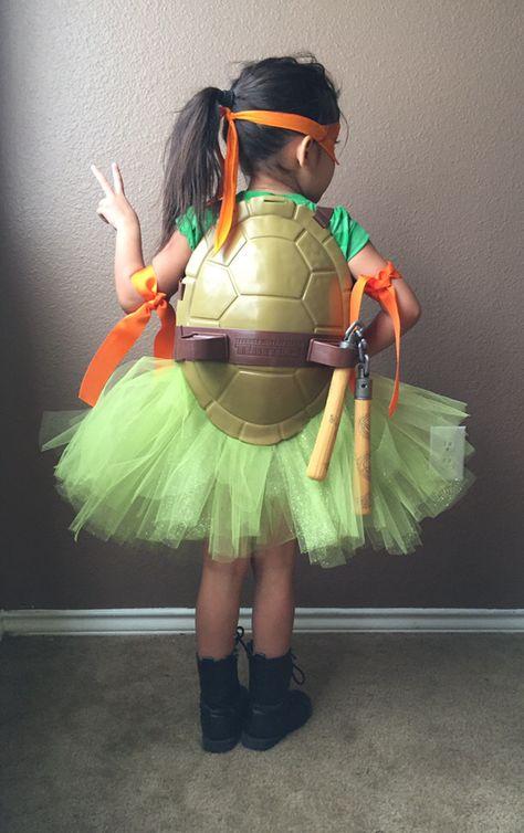Ninja turtle costume for girls - Disfraz de Las Tortugas Ninja con tutú ¡Cowabunga!