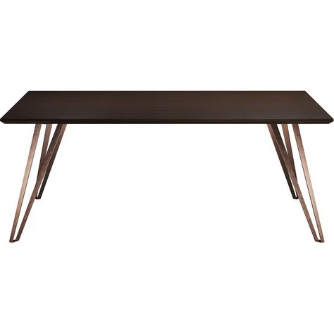 grand dining table espresso products dining table copper table rh pinterest ie