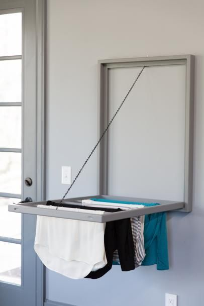 How To Build A Wall Mounted Laundry Rack Diy Towel Rack