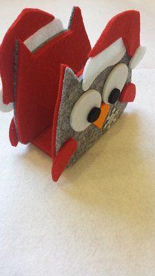 gufo portatovaglioli natalizio in feltro - Per la casa e per te - D... | su MissHobby