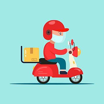 Entregador Com Mascara Montando O Vetor De Bicicleta Scooter Clipart Byke Bicicleta De Entrega Imagem Png E Vetor Para Download Gratuito Cute Illustration Delivery Man Cartoons Png