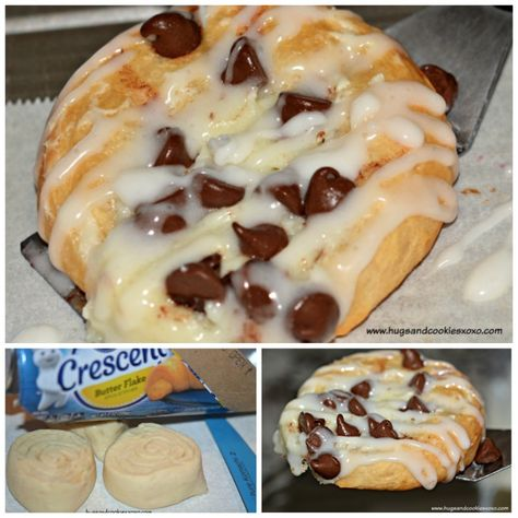 These Easy Chocolate Chip Cheese Danish make the perfect Saturday morning breakfast for your family because they are hot, sweet, and totally delicious! Easy Desserts, Delicious Desserts, Dessert Recipes, Yummy Food, Trifle Desserts, Kraft Recipes, Dessert Food, Pastry Recipes, Chef Recipes