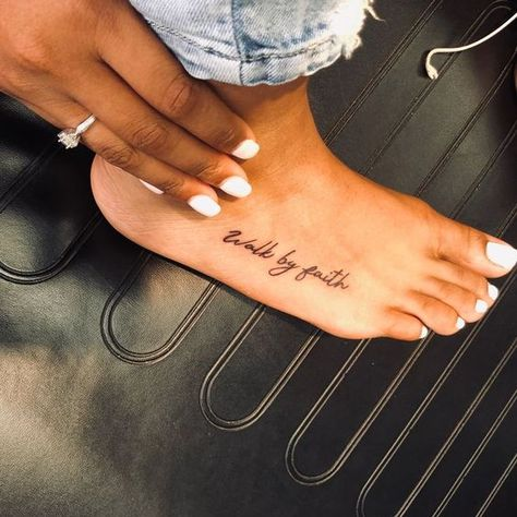 Foot Quote Tattoos for Women Feet Tattoos – Foot Quote Tattoos for Women … – foot tattoos for women flowers Faith Foot Tattoos, Foot Tattoos Girls, Foot Tattoo Quotes, Cute Foot Tattoos, Baby Feet Tattoos, Small Foot Tattoos, Dainty Tattoos, Word Tattoos, Sexy Tattoos