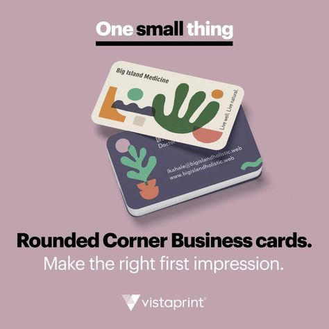 Impress with a business card