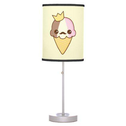 Kawaii Neapolitan Ice Cream Cone Table Lamp |