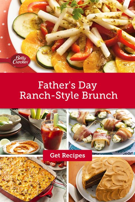 Our Father's Day Ranch-Style Brunch recipes are packed with flavor for a Tex-Mex themed meal. Pin now and make for Father's Day.