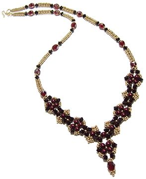 Craving Crystal Necklace Beading Pattern by Deborah Roberti at Bead-Patterns.com