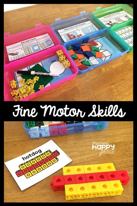 These Fine Motor Skills Task Boxes are perfect as morning tubs early finishers or busy bins. Kindergarten kids love these activities! Morning Activities, Motor Activities, Kindergarten Activities, Preschool Activities, Dementia Activities, Physical Activities, Activity Box, Busy Boxes, Toddler Development