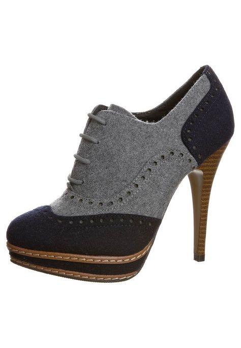 High Heels, shoes, vintage look, grey and black, looooove