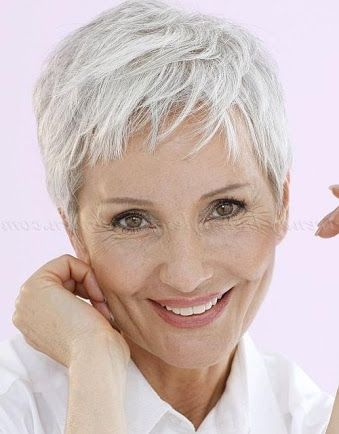 image result for pixie haircuts for over 60  short grey