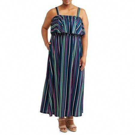 $19.00 Terra & Sky - Women\'s Plus Size Flounce Maxi Dress ...