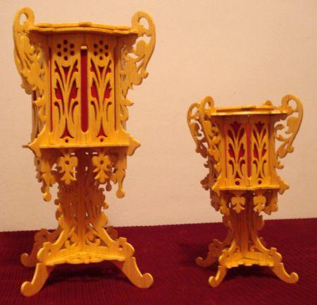 Two Vases Scroll Saw Fretwork Pattern Scroll Saw Vase