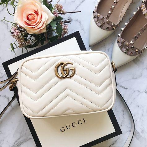 White Gucci Marmont Mini Camera Bag Review