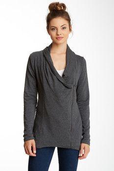Heather By Bordeaux Asymmetrical Zip Jacket