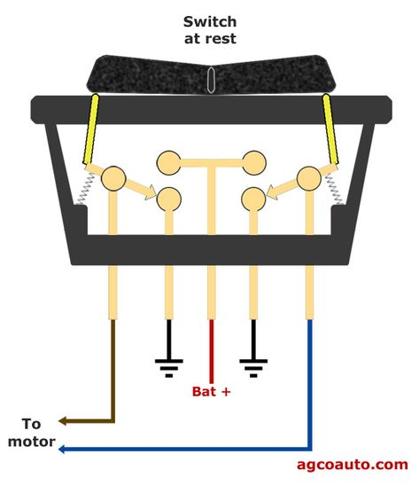 The Power Window Switch In The At Rest Position Automotive Repair Automotive Electrical Automotive Mechanic