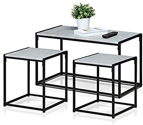 Furinno Fm Ts31sw Modern Lifestyle Living Room Set Stone Coffee