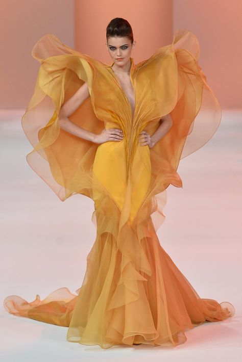 The Society Management @ Stephane Rolland Spring 2014 Haute Couture. Obviously not for daily wear but I love the shape and form. Haute Couture Paris, Spring Couture, Haute Couture Fashion, Haute Couture Designers, Haute Couture Dresses, Fashion Week, Look Fashion, Runway Fashion, High Fashion