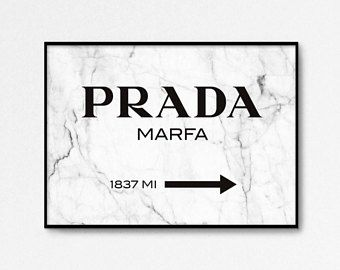 Prada Marfa Print Prada Print Prada Marfa Art Marble Decor Prada Poster Fashion Print 24x36 High Fashion Beach Wall Art Set Beach Wall Art Wall Art Sets