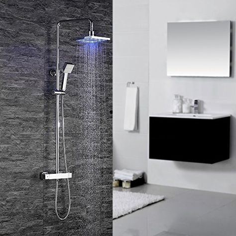 soffione rotondo set doccia Rainshower Elbe Colonna Doccia con Sistema Set Con Soffioni Doccia e Doccetta Acciaio Inox