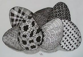 zentangle eggs