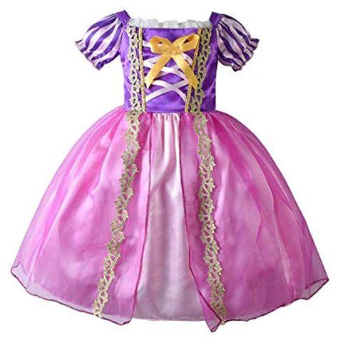 CinheyU Ragazze Carnevale Costumi Unicorno Principessa Compleanno Matrimoni Tulle Lungo Maxi Abiti Natale Halloween Cosplay Cerimonia Festa Vestito Maniche Lunghe con Cerchietto Unicorno