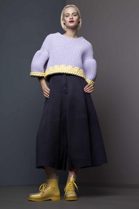 Xiao Li Fashion Design. Love the edgings