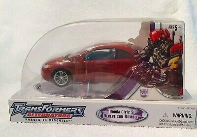 Transformers Alternators #24 RUMBLE Honda Civic SI Walmart exclusive NEW MISB