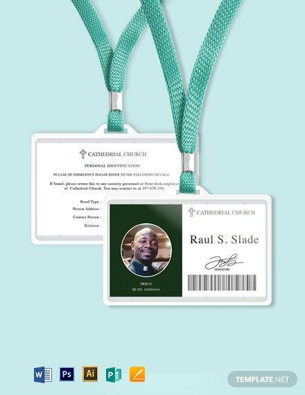 Catholic Church Id Card Template In 2020 Id Card Template Card Template Cards