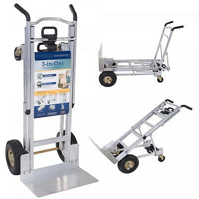 Cosco 3 In 1 Aluminum Hand Truck Foldable Dolly Cart 1000 Lb Capacity Ergonomic In 2020 Cosco Hand Trucks Hvac Supply