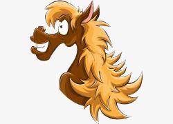 ومن ناحية رسم حصان الكرتون الكرتون التوضيح Horse Illustration Illustration Horses