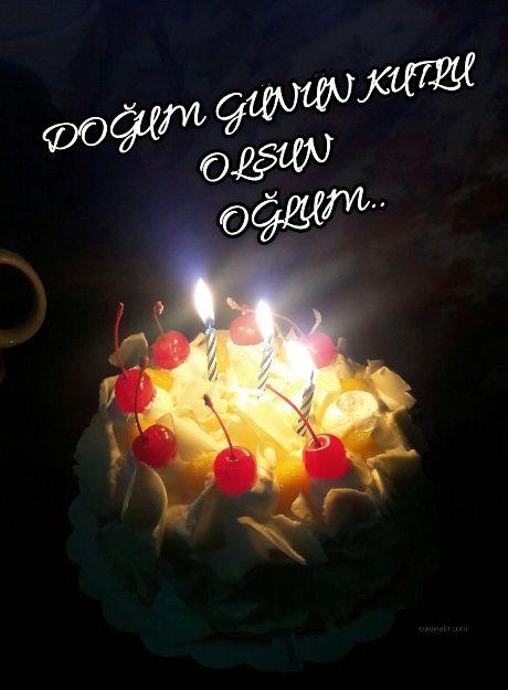 Ogluma En Guzel Dogum Gunu Mesajlari Guzel Sozler Birthday Candles Candles Birthday