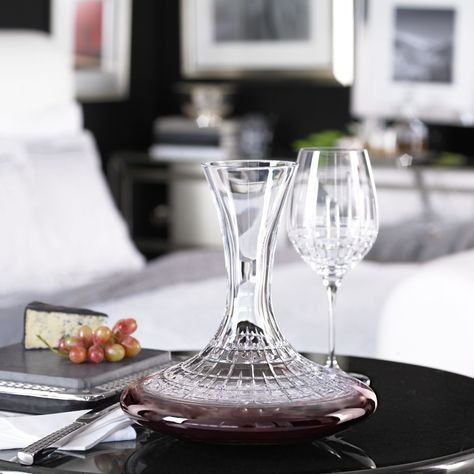 ad02acfe865c Ralph Lauren GLEN PLAID Crystal Wine Decanter
