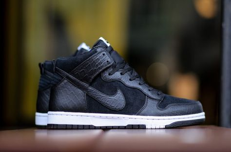 "655f8a97 Nike Dunk High CMFT PRM ""Croc"" Black / White | My Sneakers"
