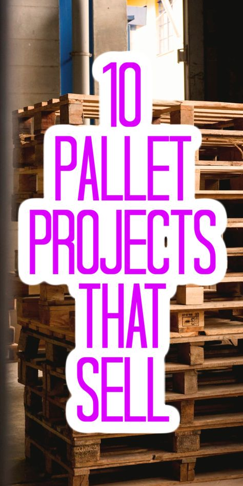 These great projects can all be made with recycled pallets! Turn those discarded gems into cash with book shelves, tables, and so much more! #pallets #woodcrafts #woodprojects #woodpallets Diy Projects Using Pallets, Wood Projects That Sell, Reclaimed Wood Projects, Easy Wood Projects, Wood Pallet Crafts, Diy Furniture Easy, Diy Furniture Projects, Homemade Furniture, Carpentry Projects