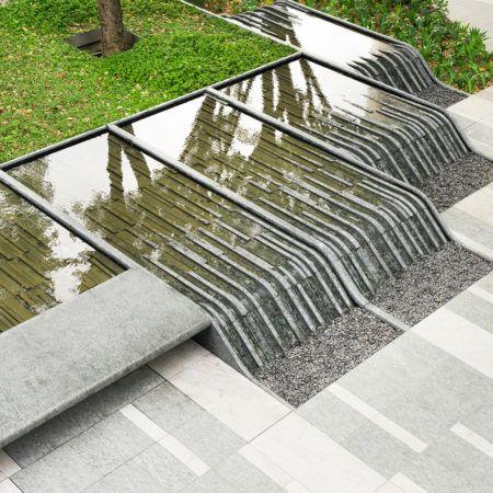 Design Of A Water Body Stone Water Waterbody Landscape Landscapingidea Urban Landscape Design Landscape Architecture Design Landscape Architecture Degree