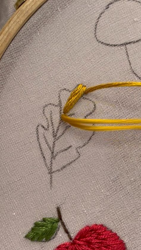 Fall embroidery tutorials