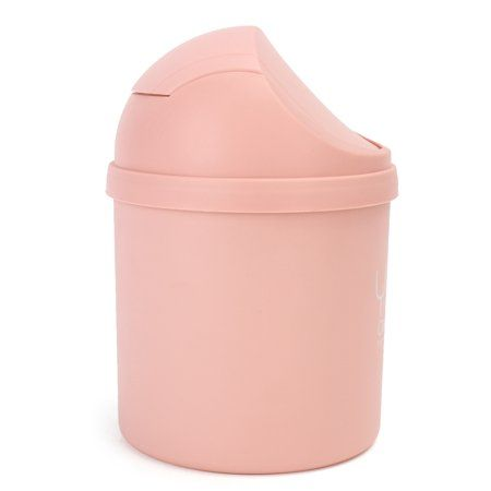 Wedlies Mini Trash Can With Swing Lid Small Waste