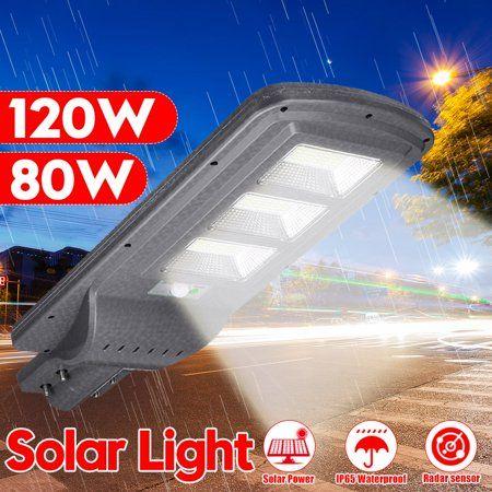 80w 90W 120w Solar Powered LED Street Light Waterproof Wall