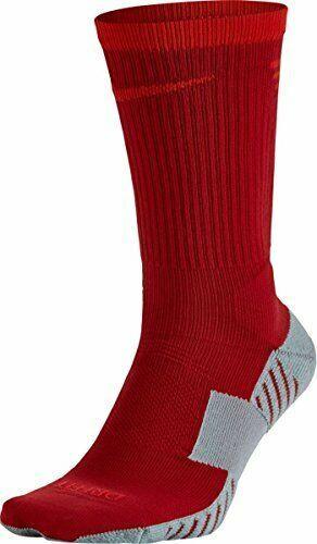 Nike Unisex Dry Squad Crew Soccer Sock Red Gray Large 8 12 M 10 13 W Sx5345 623 Nike Soccer Socks Socks Mens Crew Socks