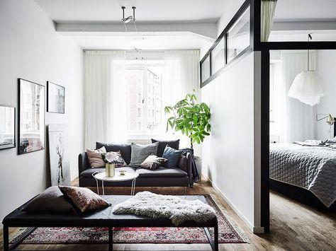 bedroom in scandinavian style home interior studio apartment rh pinterest ca