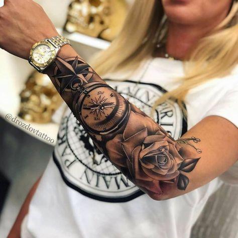 drozdovtattoo -  #tattoo #tätowierung #kunst #körperkunst #idee #design   - #bodyartideas #drawingbody #drozdovtattoo #paintingbody #womensbodyart