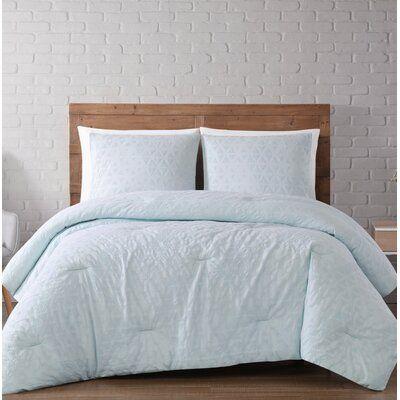 Wrought Studio Tiffany Chicago Woven Diamond Comforter Set Size