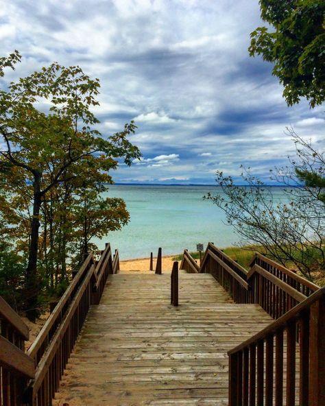 Northern Michigan and Magical Petoskey - Shalee Wanders Traverse City Michigan, Michigan Vacations, Michigan Travel, Lake Michigan Beaches, Michigan Usa, Family Vacations, Places To Travel, Places To Go, Petoskey Michigan