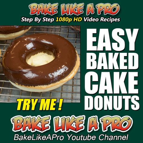 EASY BAKED CAKE DONUTS RECIPE ►►► CLICK PICTURE for video recipe
